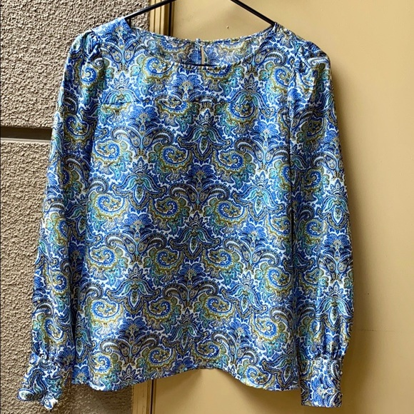Small Paisley Blouse Silk Shirt J Crew Silk Blouse